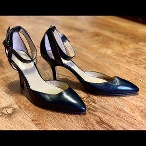 Marc Fisher Black Ankle Strap Heels